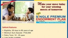 Lic Single Premium Endowment Plan
